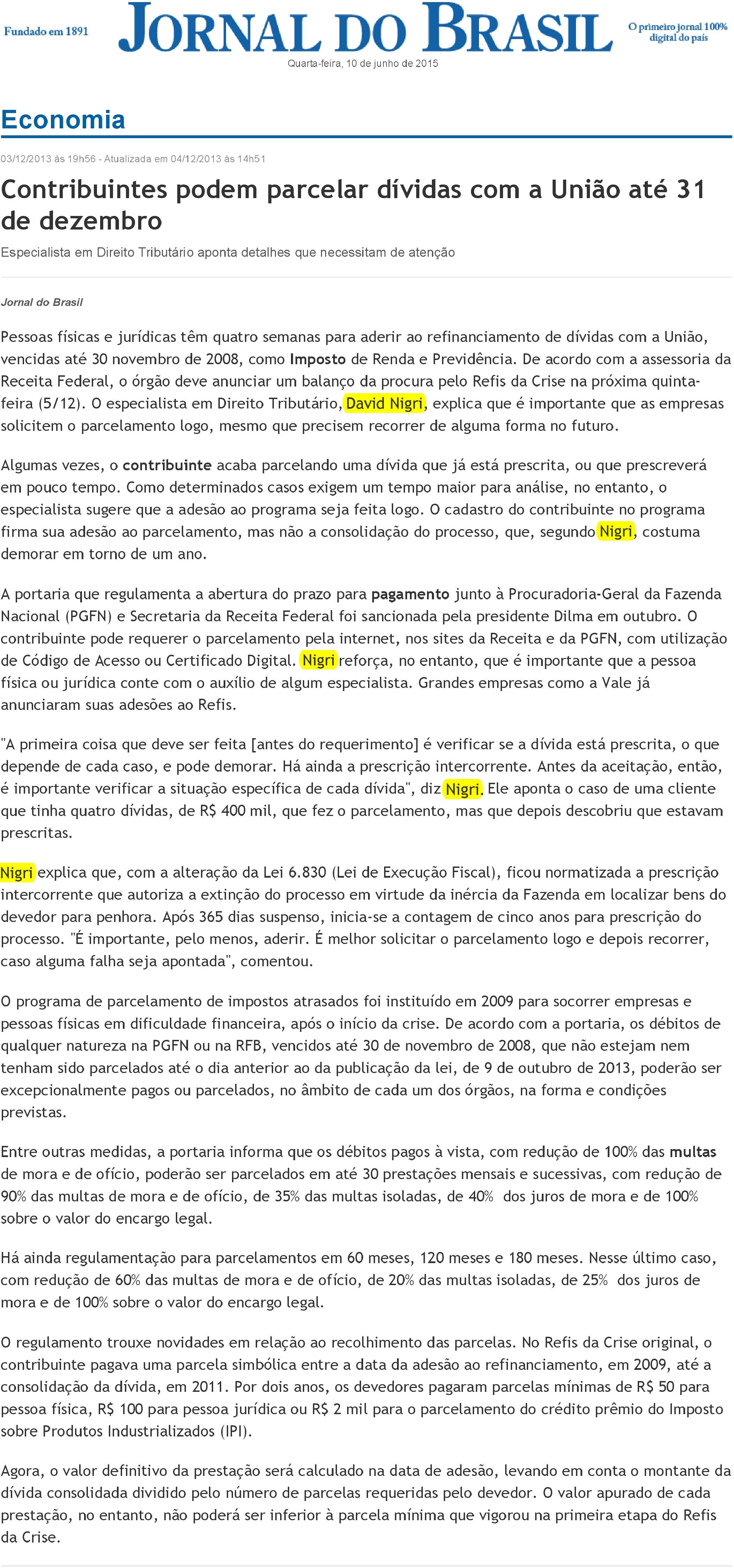 jornal-do-brasil-david-nigri-fala-sobre-o-parcelamento-das-dividas-com-a-uniao